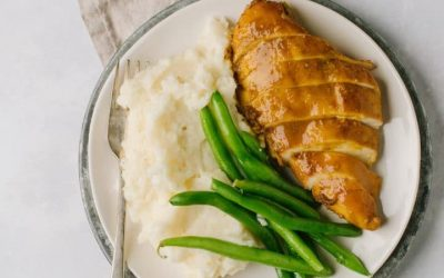Easy University/College Dinners #1:  Balsamic Chicken, Mashed Potatoes and Green Beans