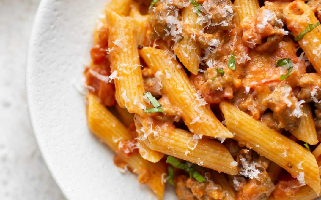 Easy University/College Dinner #2:  Fussili with Italian Sausage